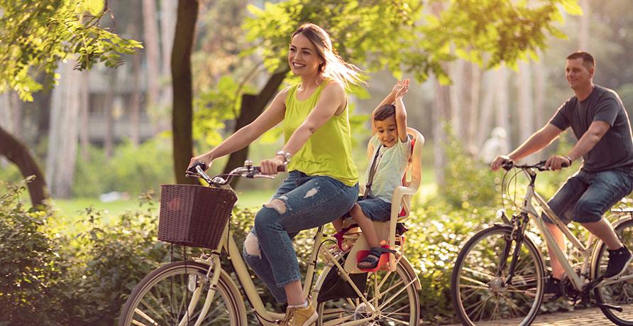 Att använda cykelsits